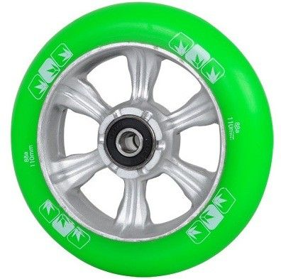 Колесо Blunt 6 Spokes 110 mm + ABEC 9 bearings Green