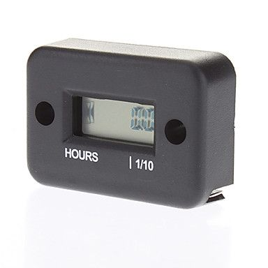 "Счётчик моточасов 1"" LCD Water Resistant Hour Meter for Motor - Black (1 x AG13)"