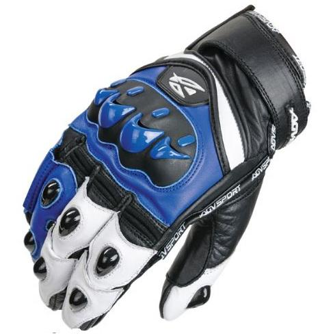 Перчатки AGVSPORT VORTEX BLACK WHITE BLUE размер L