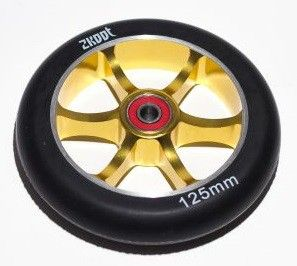 Колесо 125 mm Zkoot Spoked  Gold/Black wheel