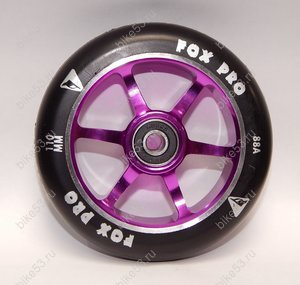 Колесо 6TS FOX PRO 110 mm + ABEC 9 (608RS) Purple/Black